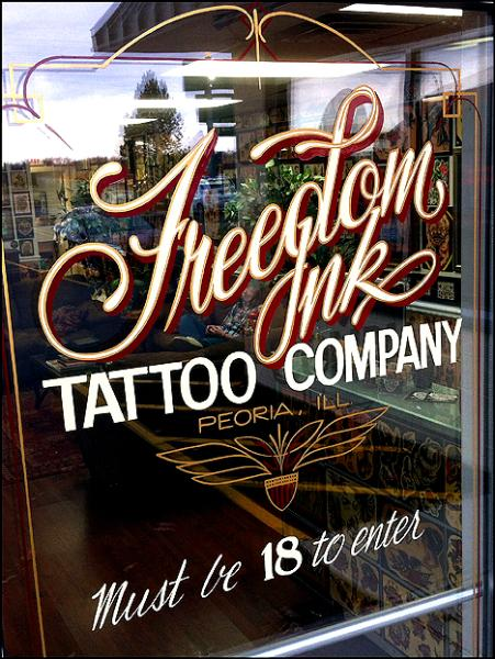 Freedom ink tattoo co peoria 39 s true custom tattoo studio for Tattoo shops in illinois